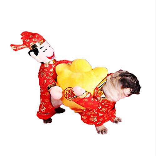 halonzhor Dekoration Funny Pet Kostüm Kleidung, Pet Tragetasche Kürbis Kostüm Hund Katze Haustiere Anzug Weihnachten Halloween Kleid bis Dekoration Prop Geschenk für Katze Hund Puppy ()