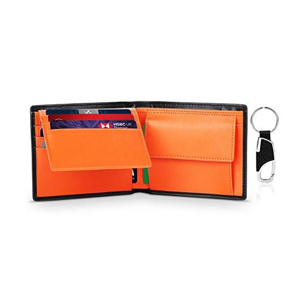 TEEHON® Portafoglio Uomo Slim Vera Pelle Blocco RFID, con Tasca Portamonete, 2 Scomparti Banconote, 8 Porta Carte di… 1 spesavip