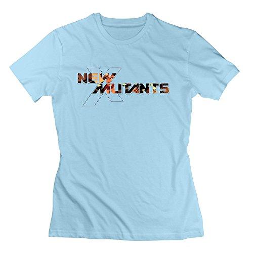Nana-Custom Tees Damen T-Shirt Gr. xl, Schwarz - Himmelblau (Girl American Doll Clothes Fall)