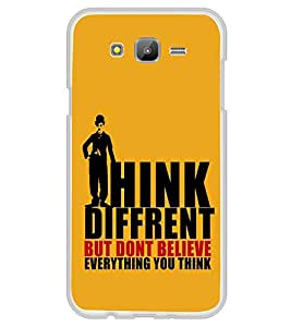 FUSON Think Different And Believe Designer Back Case Cover for Samsung Galaxy On7 G600Fy :: Samsung Galaxy Wide G600S :: Samsung Galaxy On 7 (2015)