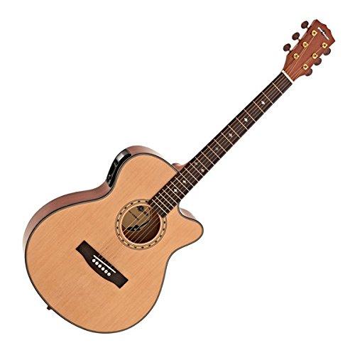 Deluxe Single Cutaway Elektro-Akustik Gitarre natur