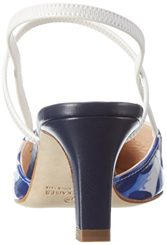 Peter Kaiser Damen Martha Pumps Blau (notte Smith Samoa Weiss Gummizug 969)