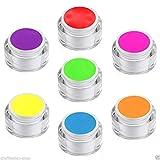 7 x 5 ml exclusives UV Colorgel/Farbgel/Neongel - Set in Neon Pastell Tönen