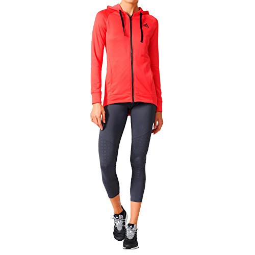 adidas Damen Hoody and Tights Trainingsanzug, Rosa/Rosbas/Grpudg, M