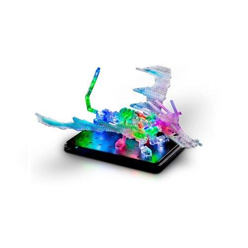 Laser Pegs - Dragón 3D luminoso 57 en 1