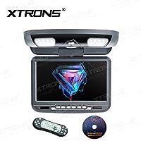 Xtrons 22,9cm Overhead lecteur DVD de voiture Toit Flip Down pivotant avec écran HD Digital USB SD Jeu disque avec IR intégré et transmetteur FM IR casque (couleur en option)