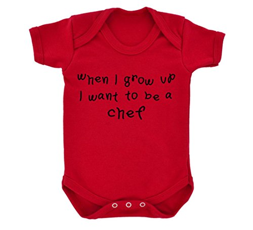 t To Be A Chef Design Baby Body rot mit schwarz Druck Gr. 6-12 Monate, rot ()