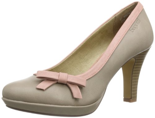 Bugatti W66796N, Damen Plateau Pumps, Braun (taupe rose 914), 39 EU (6 Damen UK)