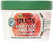 Garnier Fructis Hair Food Anguria Rivitalizzante, Maschera 3-in-1 per Capelli Fini, Balsamo, Maschera e Tratta