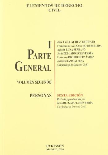 Elementos de Derecho Civil I. Parte general. Volumen 2º. Personas: 1 por José Luis Lacruz Berdejo et al.