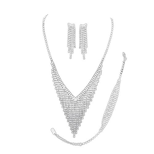 rosemarie-kollektionen-damen-3-stuck-brautschmuck-jewelry-set-silber-ton-strass-fransen-simply-gorge