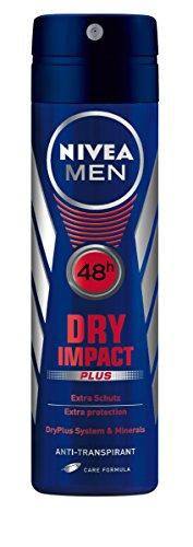 NIVEA Men, Deo-Spray für Männer, Anti-Transpirant-Schutz, 150 ml, Dry Impact, 81602