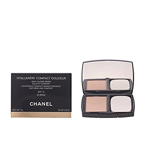 Chanel Vitalumiere Compact Douceur Lightweight Compact Makeup Radiance Softness and Comfort SPF 10 - 20 BEIGE
