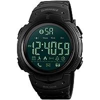 QAL Reloj Deportivo Creativo, Reloj De Paso con Bluetooth Al Aire Libre, Alarma Nocturna, Sistema iOS Compatible con Android, Reloj Deportivo Inteligente,Black-253 * 50mm