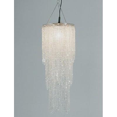 LAMPENSCHIRM PEARL von DESIGN DELIGHTS kronleuchter hängelampe leuchte L58 perlen transparent mit Perlmuttschimmer