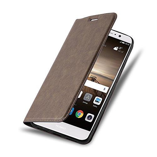 Preisvergleich Produktbild Cadorabo - Book Style Schutz-Hülle mit Standfunktion für > Huawei MATE 9 < mit unsichtbarem Magnet-Verschluss - Case Cover Schutzhülle Etui Tasche mit Kartenfach in KAFFEE-BRAUN