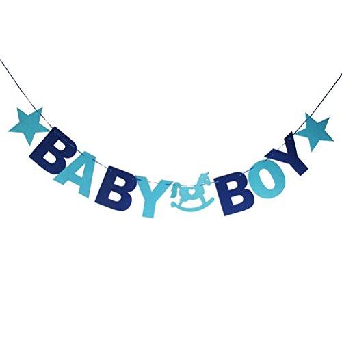 LEORX Baby Dusche Bunting Banner Girlande Party Dekoration (Baby Boy)