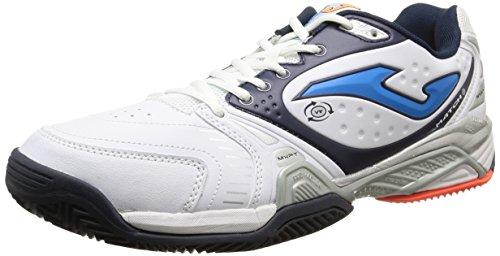 JOMA Match - Zapatillas de tenis para hombre, color blanco, talla 44