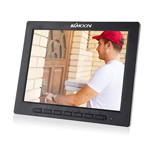 kkmoon monitor 8 pollici tft lcd a colori schermo video monitor vga bnc av ingresso monitor telecamera sicurezza per videocamere di sorveglianza