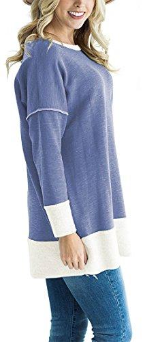 Elsa Steen - Sweat-shirt - Manches Longues - Femme bleu pigeon