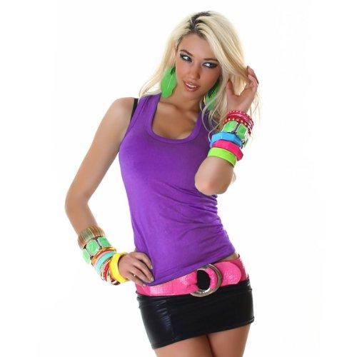 JELA London kurz Viskose Top T-Shirt in mehreren Farben (3D5543) Lila