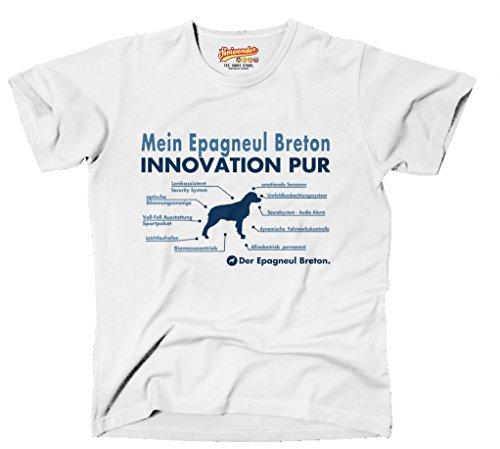Siviwonder Innovation Liste Epagneul Breton Innovation Hund Hunde Brittany Spaniel - Unisex T-Shirt Shirt Weiß 4XL (T-shirt Spaniel-weiß Brittany)