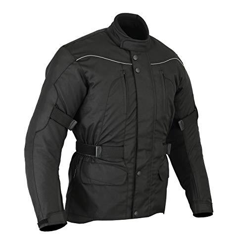 Giacca impermeabile con protezioni per motociclismo - uomo - nero - Taglia IT 70 / circonferenza del petto 137cm / 6XL