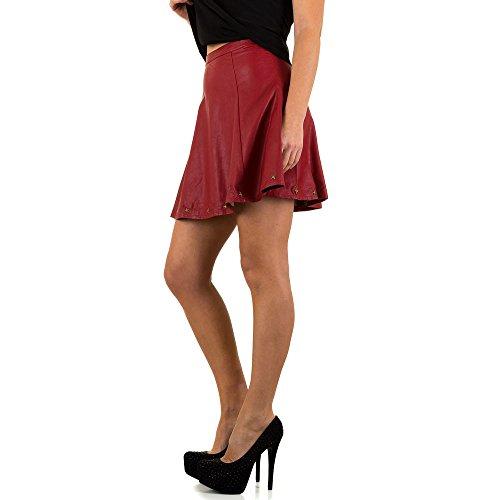 Lederoptik Rock Für Damen bei Ital-Design Rot