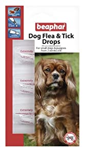 Beaphar dog puppy flea and tick drops spot on treat ment