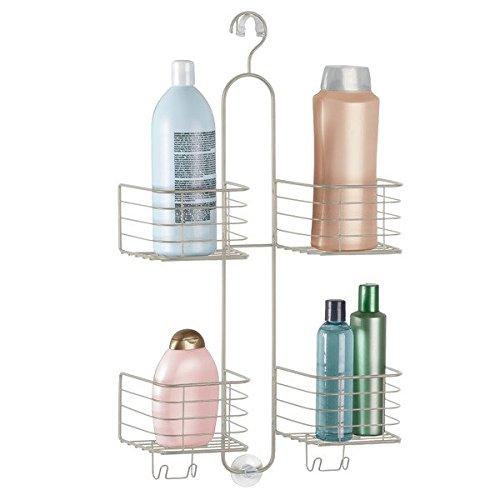 mDesign Duschablage zum Hängen - ohne Bohren, aus Edelstahl