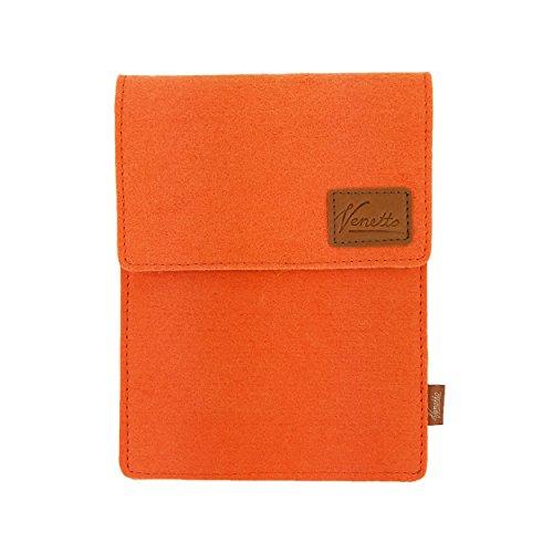 """Venetto Tasche für iPad Pro, iPad Air 2 9.7\"""" / 10.5\"""" eBook-Reader, Tablet 10.1\"""" Hülle aus Filz Sleeve Schutzhülle für Samsung Tab, Lenovo, Huawei MediaPad, ASUS, Trekstor, Medion, Odys, Acer (Orange)"""