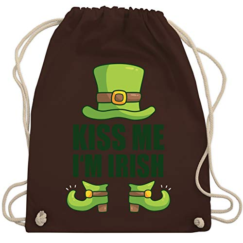 Große Kostüm Flirt - St. Patricks Day - Kiss me I'm Irish - Unisize - Braun - WM110 - Turnbeutel & Gym Bag