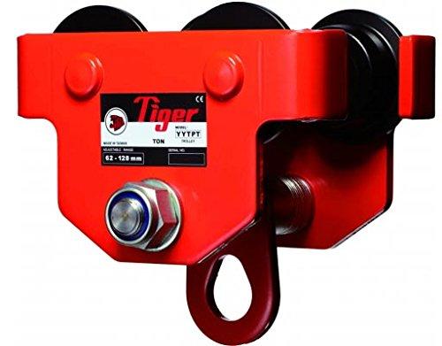 Tiger amz1022980TPS Push fascio da viaggio/trolley per profilati, singola barra, 2.0tonnellate, larghezza: 88mm-230mm