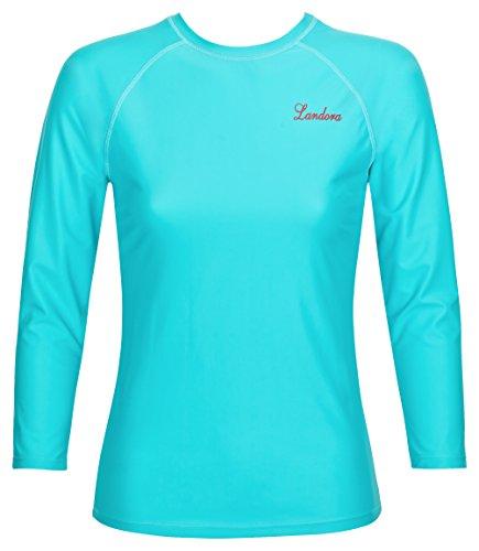 Damen UV-Schutz T-Shirt UV Protect 80, Oeko-Tex 100 in türkis, Größe L