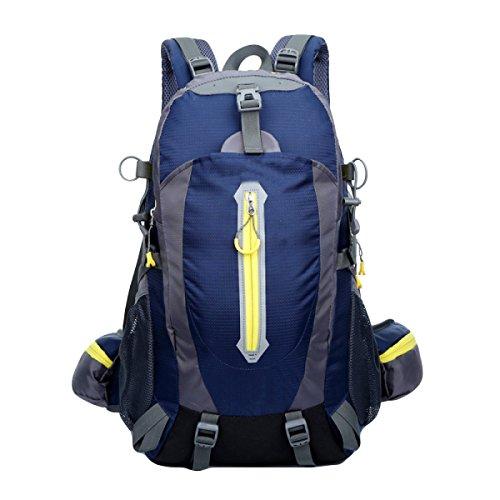40L Große Kapazität Wasserdichte Outdoor-Männer Und Frauen Bergsteigen Taschen Schultaschen Computer-Taschen,FruitGreen DarkBlue