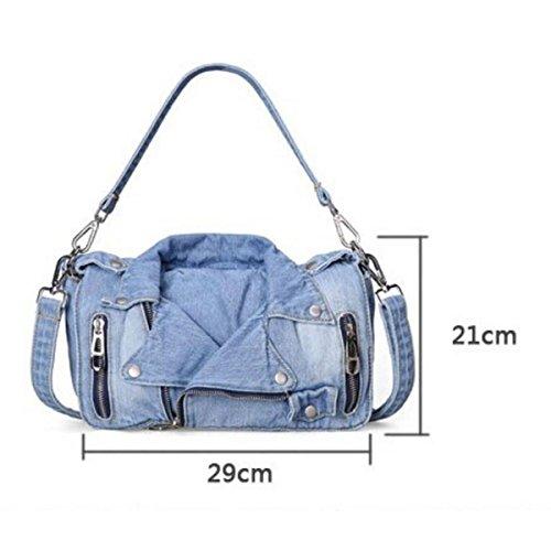 Frauen Neu Umhängetasche Mode Persönlichkeit Handtasche Lightblue