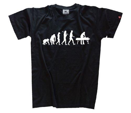 Shirtzshop T-shirt Standard Edition Physiotherapeut Masseur Evolution, Schwarz, M, 4055002585921