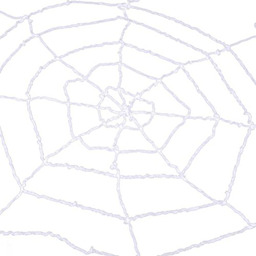 LUOEM Halloween Spinnennetz Indoor Outdoor Spuk Spinnennetz Net Halloween Spukhaus Bar Dekoration Party Supplies 1,5 mt (Weiß)