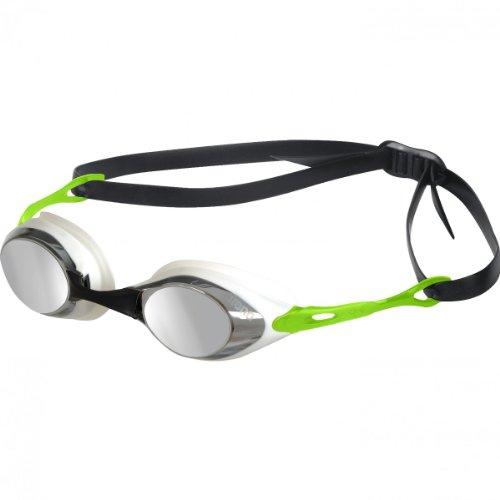 arena Cobra Mirror Goggles smoke-silver-green 2019 Schwimmbrille