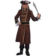 Forever Young Traje de Pirata caribeño Pirata caribeño para Hombre Adulto Joven para Siempre Traje Completo