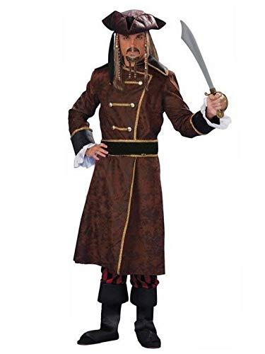 Für Immer Junge Erwachsene Herren Piratenkostüm Karibik Piraten Halloween Kostüm komplette Outfit (S/M)