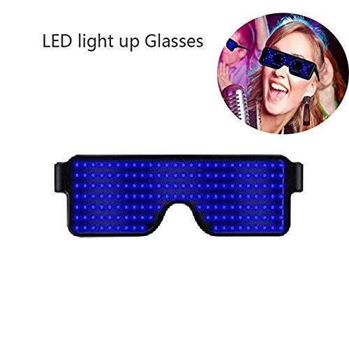 Leuchtende Brille mit blinkendem Shutter Neon leuchtende Gläser mit 8 Modi, mehrfarbig, blau, 1