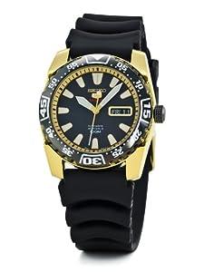 Seiko SRP170K1 - Reloj analógico de cuarzo para hombre con correa de caucho, color negro de Seiko