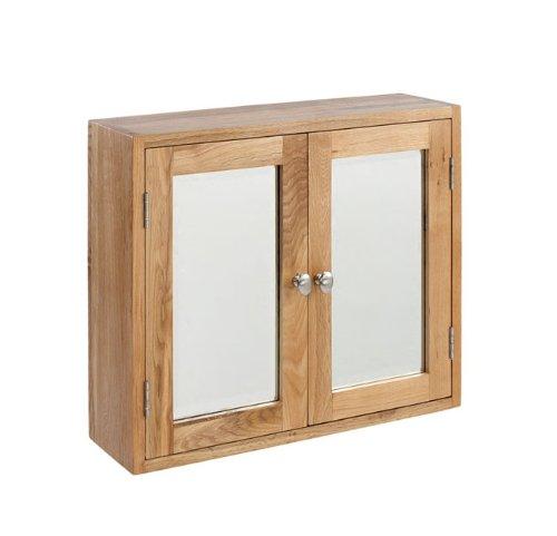 Lansdown oak double bathroom cabinet at shop ireland for Bathroom cabinets ireland