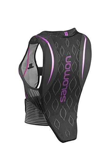 Salomon Damen Ski-Rückenprotektor, Verstellbar, MotionFit-Technologie, Atmungsaktives Mesh-Material, Flexcell Women, schwarz/violett, S, L39139200