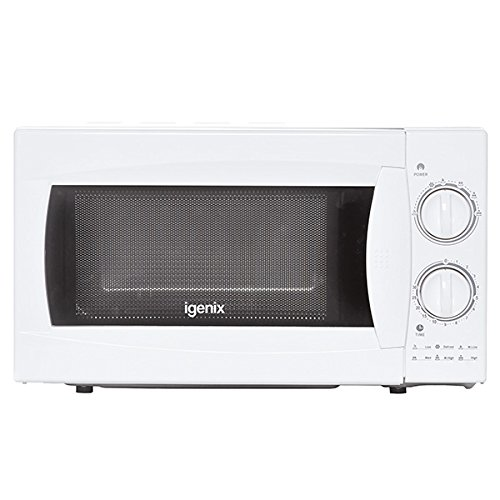 Igenix IG2980 Manual Microwave with Stainless Steel Interior, 20 L, 800 W – White