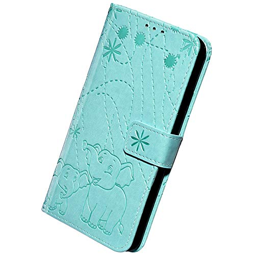 Herbests Custodia Compatibile con Samsung Galaxy A6 Plus 2018 Flip Case Cover in Pelle Portafoglio Custodia Retro Goffratura...