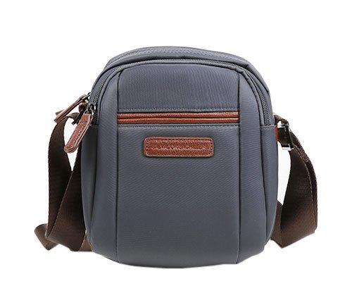 SALVADOR BACHILLER Bandelier Tasche - Boomer 50262 - Grau (Piel Tasche Herren)