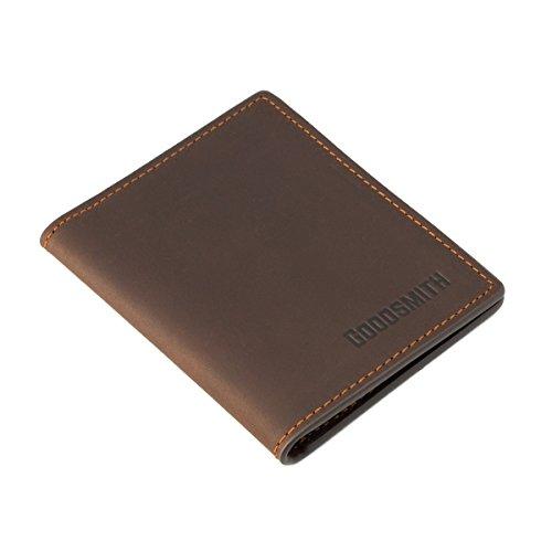 Leder Mini Portemonnaie von Goodsmith: klein, flach, leicht Aber genial/Geldbeutel Slim Wallet Geldbörse ohne Münzfach