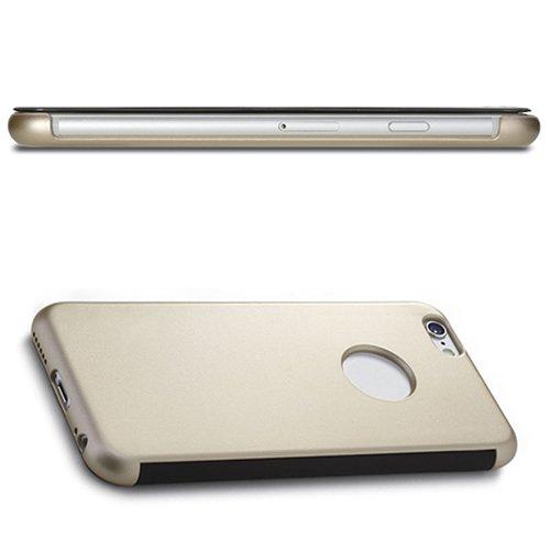 D9Q Smart Transparent View Window Cases Flip Cover Haut Schutze für iPhone 6 !!Gold